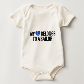 My Heart Sailor Baby Bodysuit