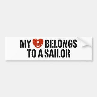 My Heart Sailor Bumper Sticker
