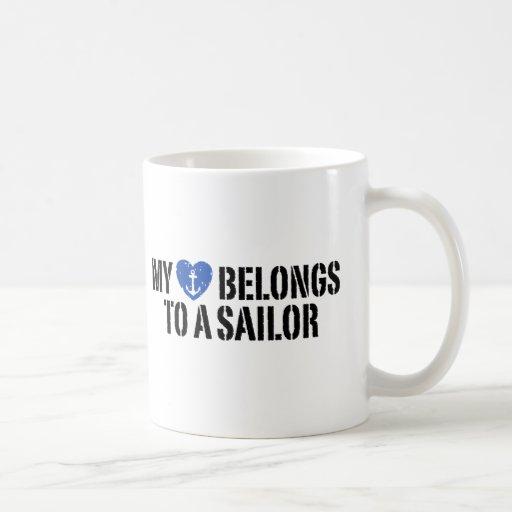 My Heart Sailor Classic White Coffee Mug