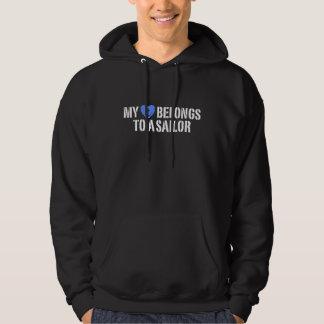 My Heart Sailor Hooded Sweatshirts