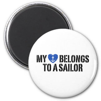 My Heart Sailor Magnet