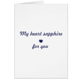 My heart sapphire for you card