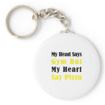 My Heart Say Tacos Pizza - Fitness Gifts Keychain
