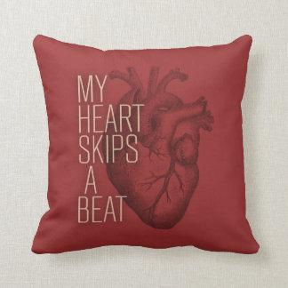 My Heart Skips A Beat Throw Pillows