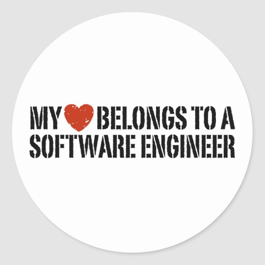 My Heart Software Engineer Classic Round Sticker