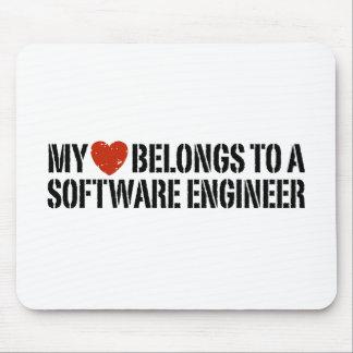 My Heart Software Engineer Mousepads