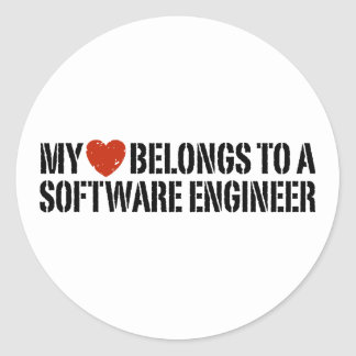 My Heart Software Engineer Sticker