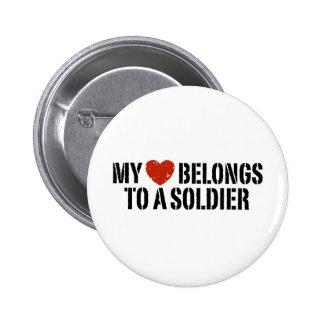 My Heart Soldier 2 Inch Round Button