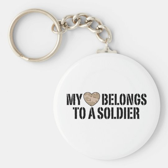 My Heart Soldier Keychain