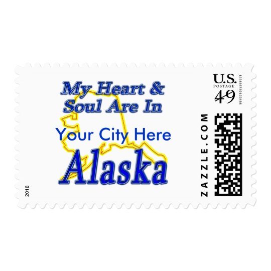 My Heart & Soul Are In Alaska Postage
