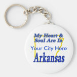 My Heart & Soul Are In Arkansas Keychain