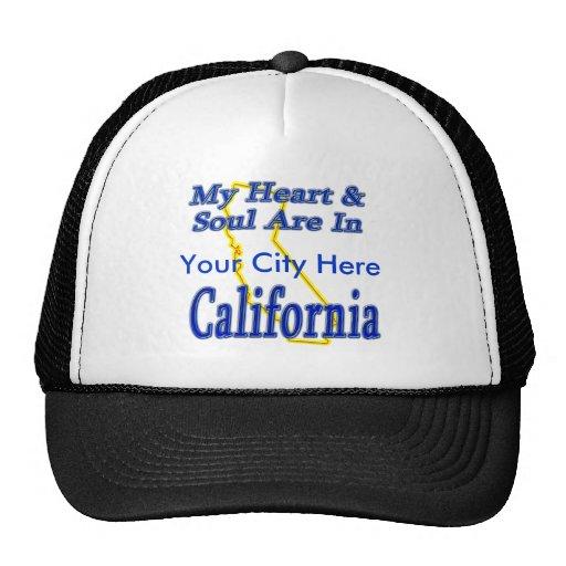 My Heart & Soul Are In California Trucker Hat