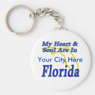 My Heart & Soul Are In Florida Keychain