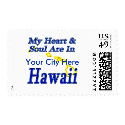 My Heart & Soul Are In Hawaii Postage