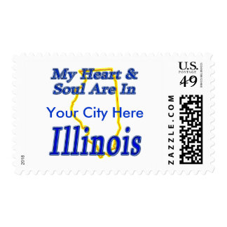 My Heart & Soul Are In Illinois Postage