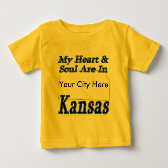 My Heart & Soul Are In Kansas Baby T-Shirt