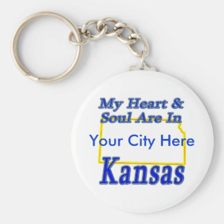 My Heart & Soul Are In Kansas Keychain