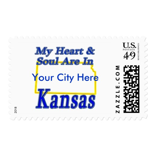 My Heart & Soul Are In Kansas Postage