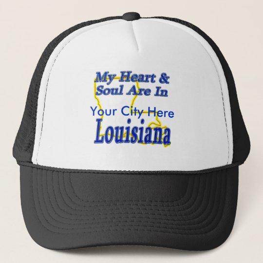 My Heart & Soul Are In Louisiana Trucker Hat