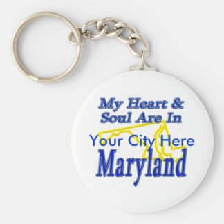My Heart & Soul Are In Maryland Keychain