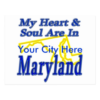 My Heart & Soul Are In Maryland Postcard