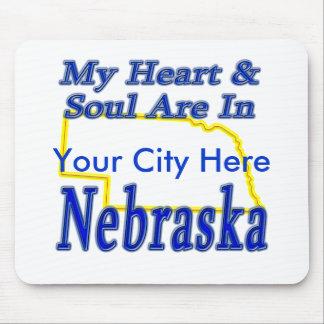 My Heart & Soul Are In Nebraska Mouse Pad