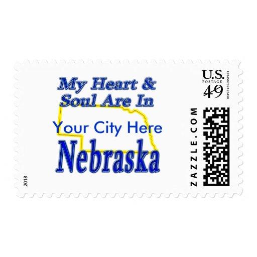 My Heart & Soul Are In Nebraska Postage