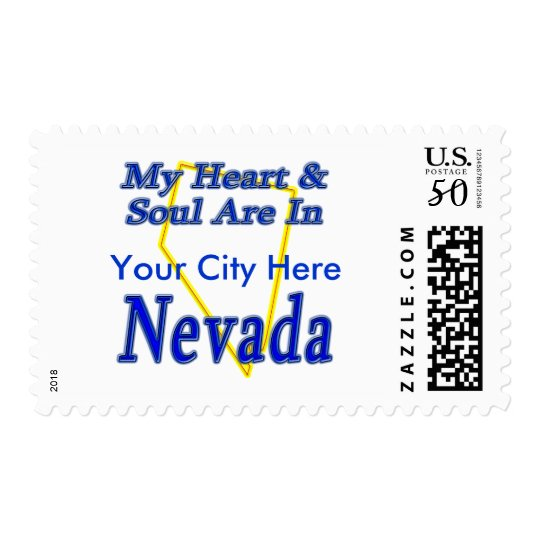My Heart & Soul Are In Nevada Postage
