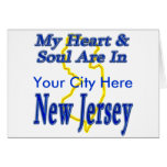 My Heart & Soul Are In New Jersey Greeting Card