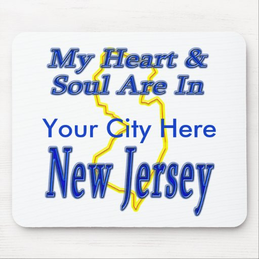 My Heart & Soul Are In New Jersey Mouse Mats