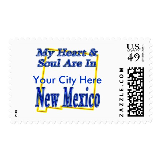 My Heart & Soul Are In New Mexico Postage
