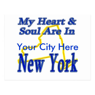 My Heart & Soul Are In New York Postcard