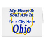 My Heart & Soul Are In Ohio Card