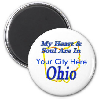 My Heart & Soul Are In Ohio Fridge Magnets