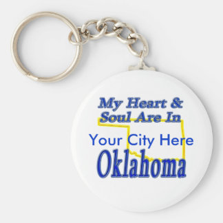 My Heart & Soul Are In Oklahoma Keychain