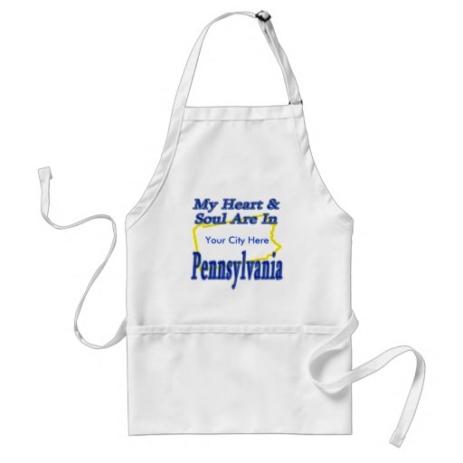 My Heart & Soul Are In Pennsylvania Adult Apron