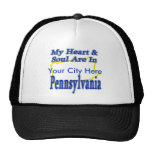 My Heart & Soul Are In Pennsylvania Mesh Hat