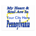 My Heart & Soul Are In Pennsylvania Postcard