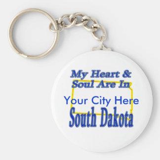 My Heart & Soul Are In South Dakota Keychain