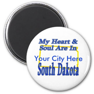 My Heart & Soul Are In South Dakota Magnet