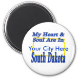 My Heart & Soul Are In South Dakota Magnets