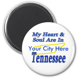 My Heart & Soul Are In Tennessee Fridge Magnet