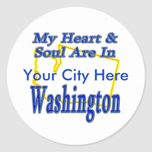 My Heart & Soul are In Washington Stickers