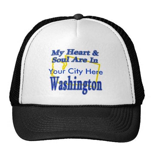 My Heart & Soul are In Washington Trucker Hat