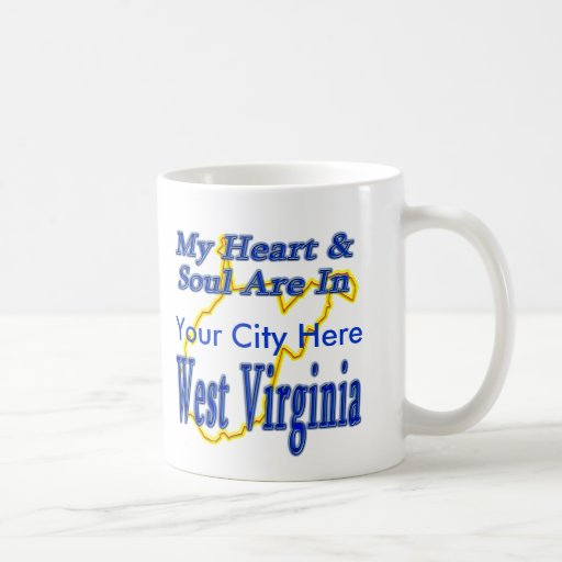 My Heart & Soul are in West Virginia Classic White Coffee Mug