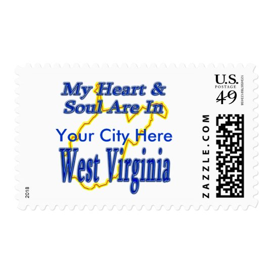 My Heart & Soul are in West Virginia Postage