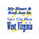 My Heart & Soul are in West Virginia Postcard