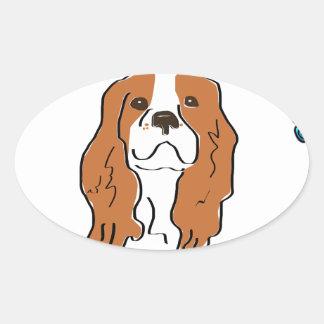 My heart & soul belong to my Cavalier Oval Sticker