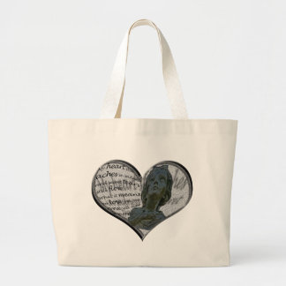 My heart still aches... large tote bag