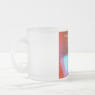 My heart to you is given frosted glass coffee mug